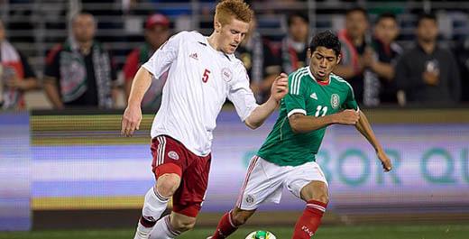 México vs Dinamarca partido amistoso.