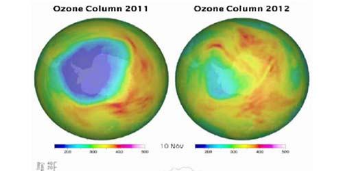 Fotos de la capa de ozono