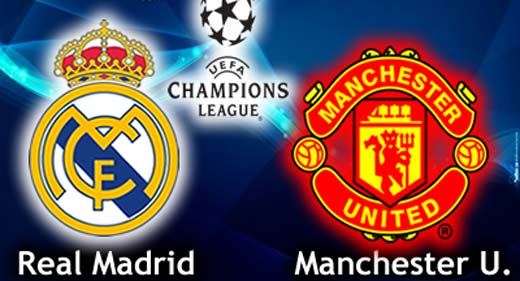 Manchester United vs Real Madrid por Internet
