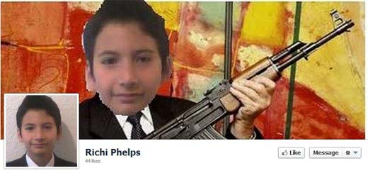 Richi Phelps en Facebook mostrando que es un hombre