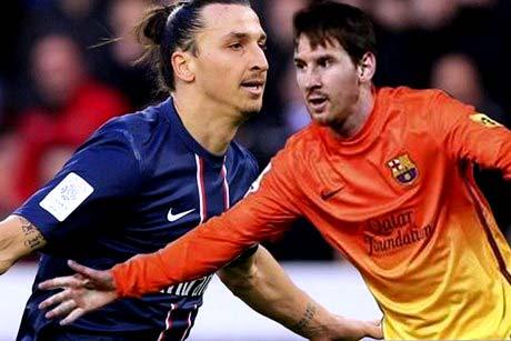 Zlatan y Messi barcelona vs psg