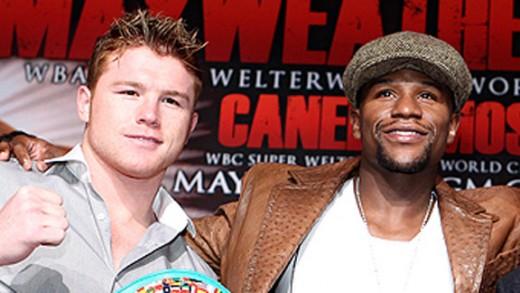 Canelo Alvarez vs Floyd Mayweather pelea