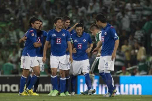 Santos 0-3 Cruz Azul el visitante gana