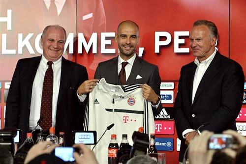 Pep Guardiola fue presentado