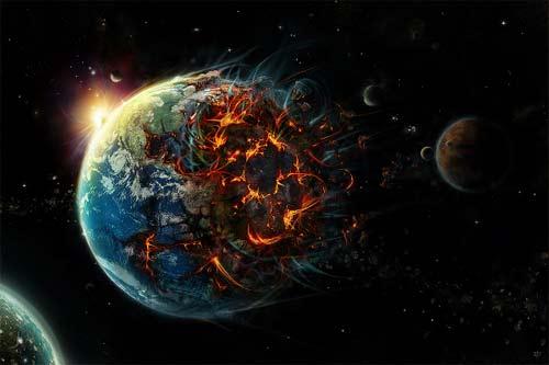 Planeta Tierra Destruido