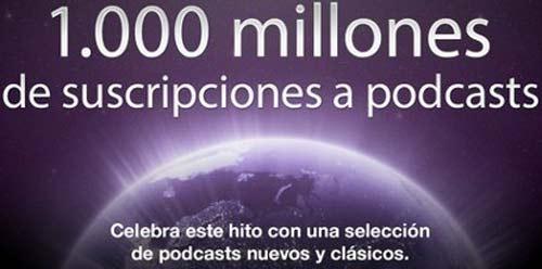 Podcasts en iTunes de Apple llegan a más de 1000 millones de suscriptores