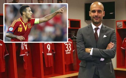 Thiago Alcantara y Pep Guardiola