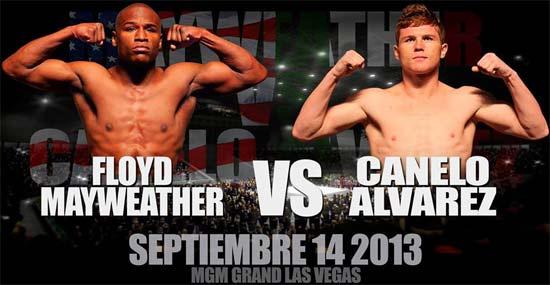 Canelo Álvarez contra Floyd Mayweather por Internet
