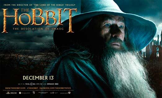 El Hobbit 2, la desolación de Smaug. Segunda entrega de la trilogía de el hobbit