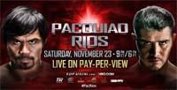 Brandon Ríos contra Manny Pacquiao, la pelea del 23 de Noviembre de 2013