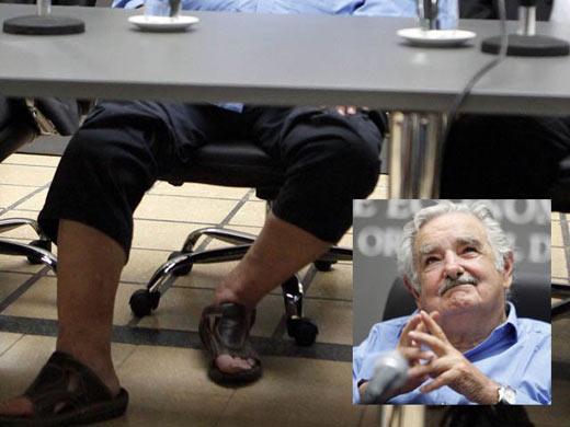 Chanclas del presidente mujica