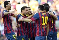 Equipo Barcelona vs Levante, cuartos de la gran final