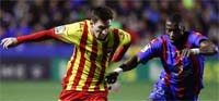 Barcelona contra Levante en los juegos de ida de los cuartos de final