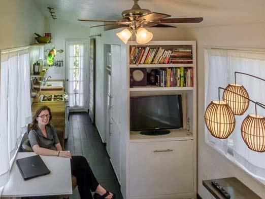 Macy Miller mostrando su casa de ensueño