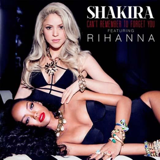 Shakira y Rhiana en portada de disco para presentar el sencillo donde cantan juntas