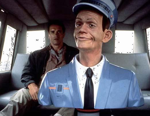 Taxi del vengador del futuro, película futurista