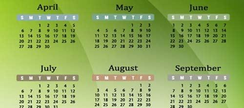 Calendarios Vectorizados