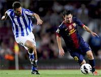 Barcelona contra Real Sociedad en el juego de vuelta