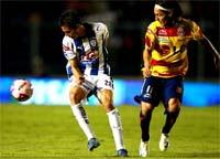 Morelia contra Pachuca, juego de titanes
