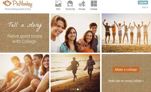 Picmonkey, sitio para diseñar postales, tarjetas o para editar fotografías