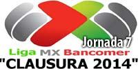 Resultados oficiales de la Jornada 7, Liga MX 2014