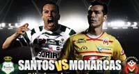 Santos laguna enfrenta a Monarcas de Morelia en el Estadio josé Maria Morelos y Pavón