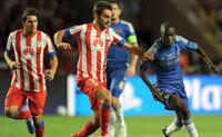 Atlético de Madrid juega contra Chelsea, el partido de ida