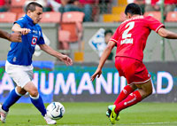 Cruz Azul contra Toluca en la final de la Concachampions 2014