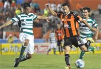 Santos juega contra Jaguares de Chiapas