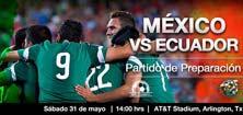 México contra Ecuador, juego amistoso