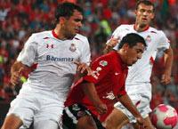 Xolos de Tijuana vs Diablos Rojos del Toluca en el Estadio Caliente