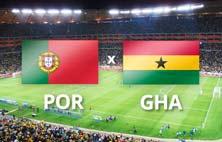 Portugal contra Ghana este 26 de Junio