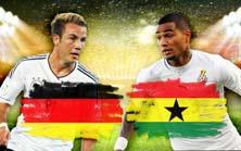 Alemania enfrenta a Ghana este 21 de Junio