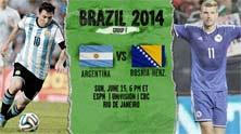 Argentina enfrenta a Bosnia el domingo 15 de Junio de 2014