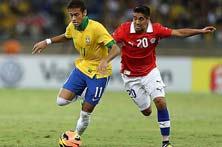 Brasil contra Chile, primer juego de Octavos de final