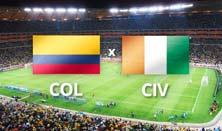 Colombia enfrenta a Costa de Marfil este 19 de Junio