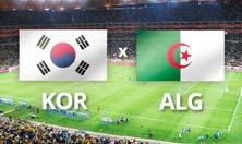 Corea del Sur enfrenta a Argelia este domingo 22 de junio