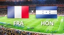 Francia vs Honduras en el Mundial Brasil 2014