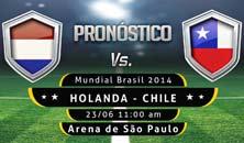 Holanda enfrenta a Chile en el Mundial de Brasil 2014