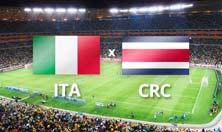 Italia contra Costa Rica el viernes 20