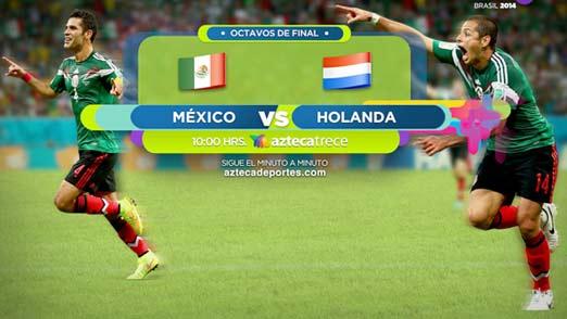 México contra Holanda el encuentro que define los octavos de final
