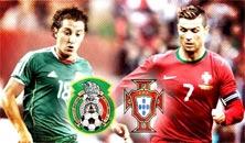 México contra Portugal, juego en Boston