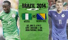Nigeria enfrenta a Bosnia Herzegovina en un partido clave