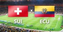 Suiza contra Ecuador, primer juego de la jornada 4