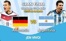 Alemania contra Argentina, la gran final