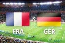Alemania enfrenta a Francia en los cuartos de final