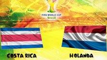Holanda contra Costa Rica este 5 de Julio