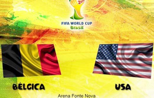 Estados Unidos contra Bélgica en los octavos de final