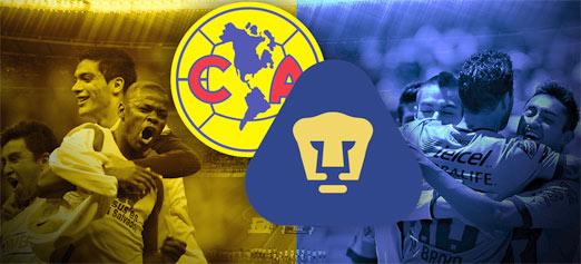 América enfrenta a Pumas en el Estadio Azteca