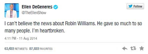 Robin Williams Muerto